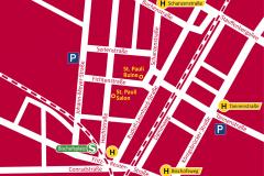 Lageplan der TheaterRuine und St. Pauli Salon