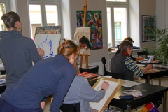Malkurs im St. Pauli Salon Dresden
